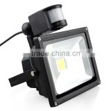 IP66 50w IR motion detector LED flood light motion sensor COB LED flood light with CE ROHS