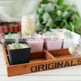 Wholesale Vintage Wooden stationery boxes Wood Desk Storage Keepsake Flower Planter Boxes