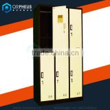 Orpheus wholesale Corrosion Resistant 6 Compartment Compact Laminate Locker For Storaging