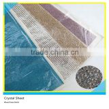 24*40 cm Blue Clear Gold Crystal Iron On Hotfix Rhinestone Glue Sheet SS6/SS8                                                                         Quality Choice