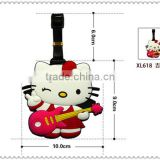 2016 Hot Selling hellokitty Good Fashion Hot Selling Square Promotional Baggage Claim Tag