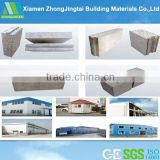lightweight eps concrete block shear key and temper joint sandwich panel for siding wall