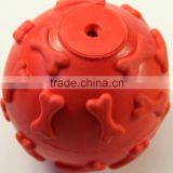 Thermoplastic rubber ball pet chewtoy for dogs and cats
