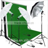 Photo Studio Background Support Lighting Kit 3 Backdrops Umbrella continuous UK standard
