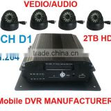TS-610C-H.264 2TB HDD 4 Channel Mobile CCTV Surveillance Security Vehicle DVR Internet 3G Remote View,Monitor,Auto download
