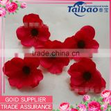Tianjin factory wholesale flower heads silk flower heads artificial poppy flower heads                                                                         Quality Choice