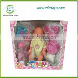 14 Inch newborn baby doll plastif baby doll with pee baby lovely doll
