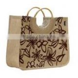 printing jute packing bag,printing jute ladies bag,ladies jute shopping bag,ladies fashion jute packing bag