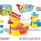 Safe and funny yellow plastic B/O duck toy with light & music