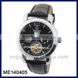 Men Gents Tourbillon Style Watch Date Aviator Automatic Mechanical Watch