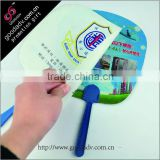personalized customer shaped small plastic fan / mini plastic hand fan