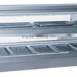 Stainless steel electric food warmer display cabinet with humid function FW-3P