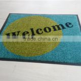 Nylon Loop Pile Rubber Door Mat With Rubber Backing, anti-slip washable door mats (indoor)