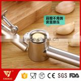 Easy clean stainless steel garlic press with garlic peeler and clean brush, Garlic crusher, Garlic mincer