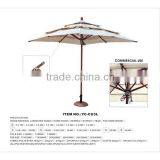 2014 new three layers wooden patio umbrella for patio canopy swing