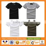 Stock Blank T Shirts Wholesale Cheap Price Men Plain T-shirts Manufacturers China
