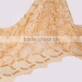 New arrival gold fashion african lace fabrics embroidery wholesale hot swiss cord lace fabric elegant stones guipure fabrics