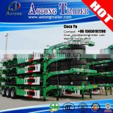Madagascar shacman f3000 tractor 6x4 skeleton flatbed 3 axles container shipping tandem 40ft chassis trailer truck price
