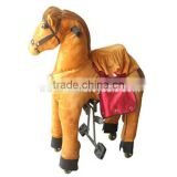 2015 new design best selling ride on animal toy mechanical walking horse