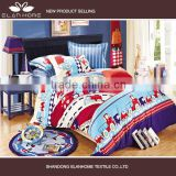 100% cotton pigment print new colorful car design baby bedding sets