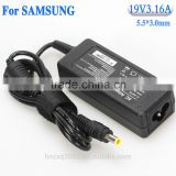 19v3.16a Manufacturer ac dc battery charger for samsung notbook computer laptop power adapters external wholesale high quality