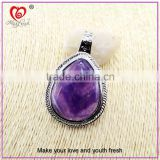 Chinese Factory direct sale quartz crystal pendant top quality purple pendant jewelry purple stone necklace