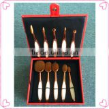 Custom rose gold oval makeup hair brush set                                                                                                         Supplier's Choice