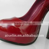Solid color wholesale fashion simple ladies shoesleather high heel safety shoes