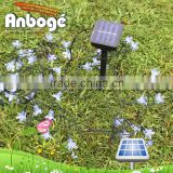 new products Artificial flowers 20LED Double lotus LED solar strig lights for christmas, party, home, garden, fence decoration