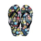 2013 New beauful design well sale cheap women's flip flops/women's slippers/sandals/shoes with Thermal transfer insole(HG13018