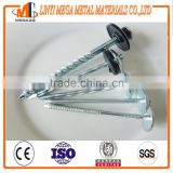 "hot sale galvanized umbrella roofing nail 2.5"" china supplier umbrella head roofing nails"