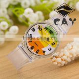 Stock! Newest Deisgn Hot Sale Younth High Quality Fashion Simple Star Transparent Plastic Kid Wrist Watch