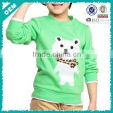 Sweatshirt for children , smart bear printing on child clothing , beauty printed bear on swaetshirts (lyh03000359)