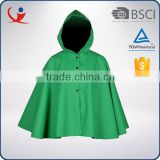 Wholesale cheap men waterproof nylon green plain foldable rain jacket