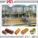 Food machinery full automatic Swiss roll cake production plant