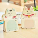 3D Sticker paper die cut mini cute memo pad high quality cat shape custom printing sticky notes