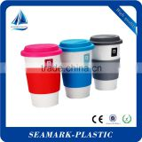 2016 cheap wholesale bright colors silicone rubber coffee cup lid travel coffee mug lid
