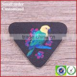 2016 new designs 3d bird printing patch for work blouse