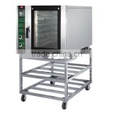 Bakery 6 trays electric hot air convection oven with trolley                                                                         Quality Choice