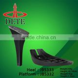 ABS plastic platform heels high quality for lady dress shoes made in china