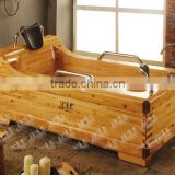 Wooden bathtub freestanding installation and cedar material                                                                         Quality Choice