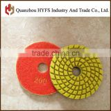 3'' 4'' 5'' 6'' 8'' 10''Diamond wet polishing pad,Abrasive Pad Type 6 polishing pads