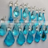 6.9-4 Teal Turquoise Chandelier Drops Glass Crystals Vintage Look Christmas Tree Wedding Decorations Feng Shui