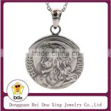 New Design 316L Stainless Steel Religiously Inspired Thorn Crown Ecce Homo Sorrowful Jesus Christ Head Medal Pray For Us Pendant