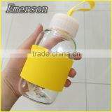 China Product Sport Seal Water Bottle fruit infuser water bottle Wholesale Glass Bottle silicone water bottle