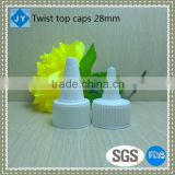 28mm manufacturer PP plastic bottle spout caps for hair lotions ,gel water ,eye drops, ketchup, dressing