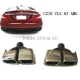 high quality exhaust tips, muffler tips, end pipes for Benz CLS-CLASS C218 CLS 63 AMG style