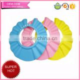 Safe shampoo shower bathing cap protect soft hat for baby children kids