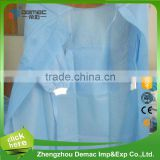 Best price surgical disposable white/blue/green waterproof isolation gown