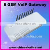Compatible with IP PBX for VoIP to GSM Gateway,8 GoIP